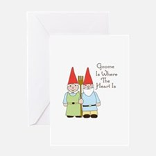 Gardening Gnome Couple Greeting Cards
