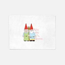 Rollin Gnomes 5'x7'Area Rug