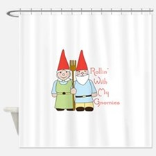Rollin Gnomes Shower Curtain