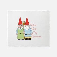 Rollin Gnomes Throw Blanket