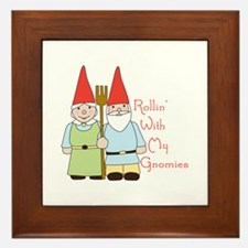 Rollin Gnomes Framed Tile