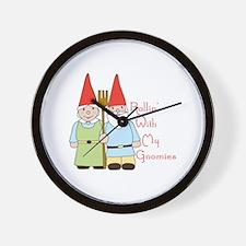 Rollin Gnomes Wall Clock