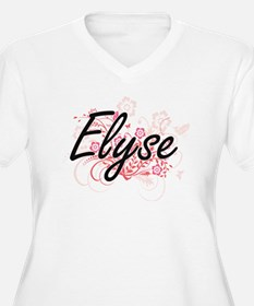 Elyse Artistic Name Design with Plus Size T-Shirt