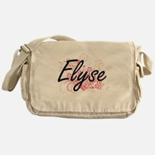 Elyse Artistic Name Design with Flow Messenger Bag