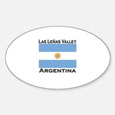 Las Lenas Valley, Argentina Oval Decal