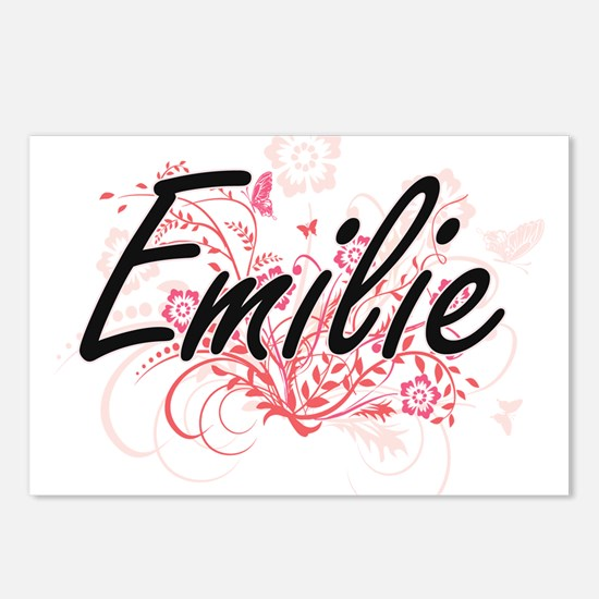 Emilie Artistic Name Desi Postcards (Package of 8)