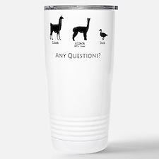 Funny Llama Travel Mug