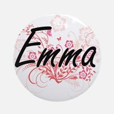 Emma Artistic Name Design with Flow Round Ornament