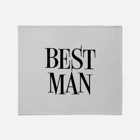 Best Man Throw Blanket