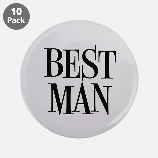 "Best Man 3.5"" Button (10 pack)"