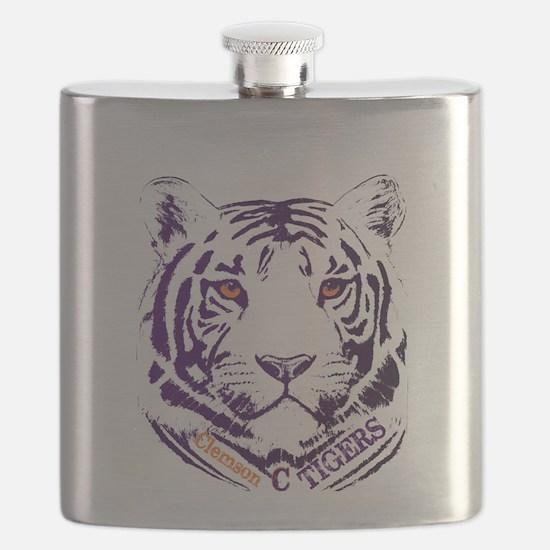 Cute Clemson Flask