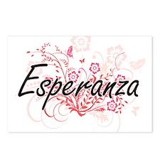 Esperanza Artistic Name D Postcards (Package of 8)