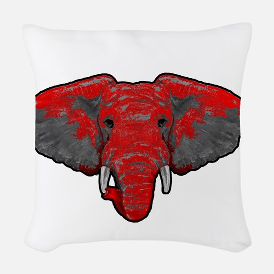 Crimson Tide Takeover Woven Throw Pillow
