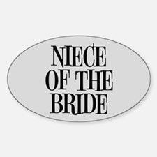 Niece of the Bride Decal