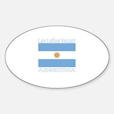 Las Lenas Valley, Argentina Oval Decal