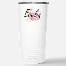 Evelin Artistic Name De Stainless Steel Travel Mug
