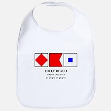 Folly Beach Nautical Flag Bib