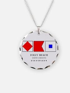Folly Beach Nautical Flag Necklace