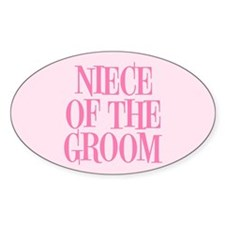 Niece of the Groom Decal