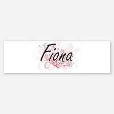 Fiona Artistic Name Design with Flo Bumper Bumper Bumper Sticker