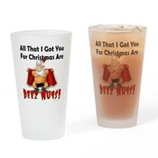 Santa Deez Nuts Drinking Glass