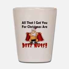 Santa Deez Nuts Shot Glass