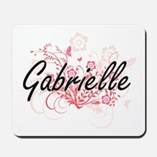 Gabrielle Artistic Name Design with Flow Mousepad