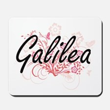 Galilea Artistic Name Design with Flower Mousepad