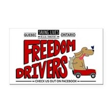 Freedom Drivers FB logo Rectangle Car Magnet