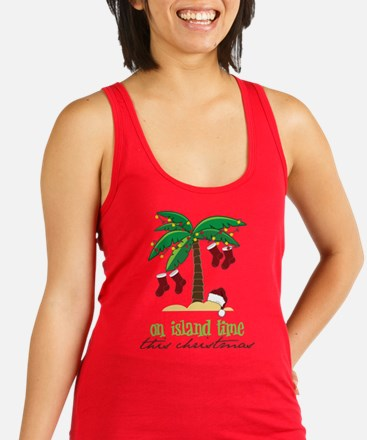 Cute On island time this christmas Racerback Tank Top