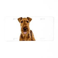 Vector Art Airedale Terrier Aluminum License Plate
