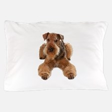 Heavily Deconstructed Vector Airedale Pillow Case
