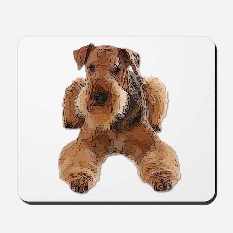 Heavily Deconstructed Vector Airedale Te Mousepad