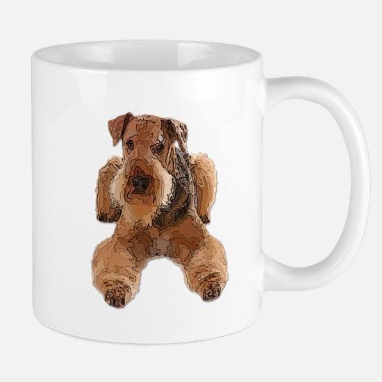 Heavily Deconstructed Vector Airedale Terrier Mugs