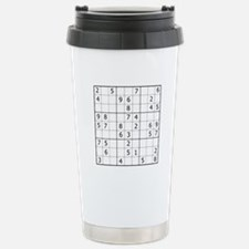 Sudoku Stainless Steel Travel Mug