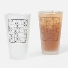 Sudoku Drinking Glass