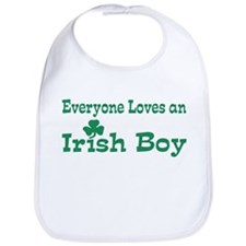 Cute I shamrock irish boys Bib