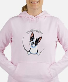 Cute Funny boston terrier Women's Hooded Sweatshirt