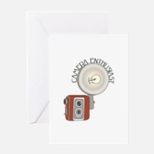 Flash Camera Enthusiast Greeting Cards