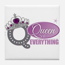 Queen Everything Orchid Tile Coaster