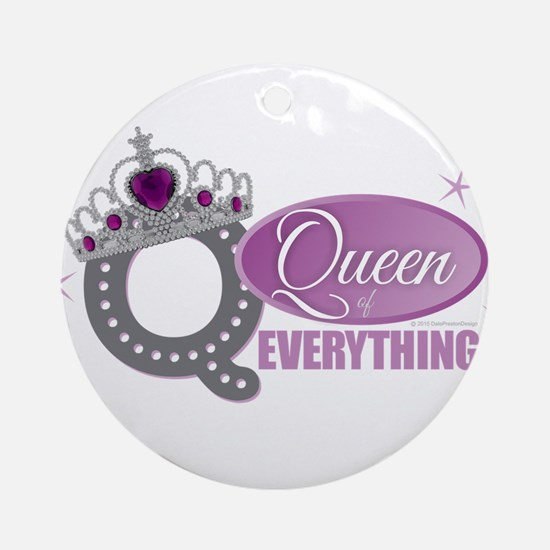 Queen Everything Orchid Round Ornament