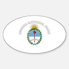 Iguazu National Park Oval Decal