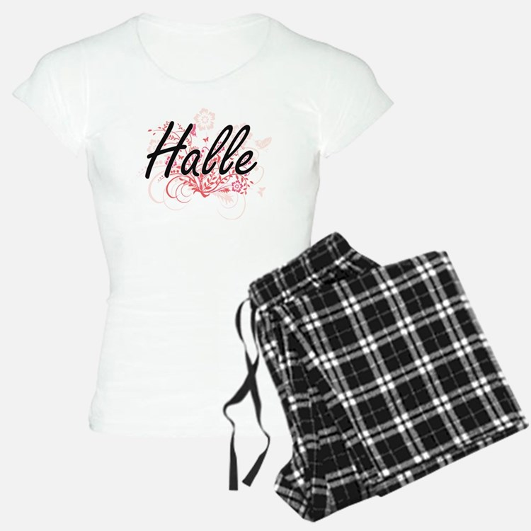 Halle Artistic Name Design pajamas