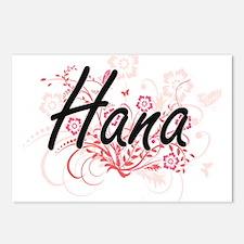 Hana Artistic Name Design Postcards (Package of 8)