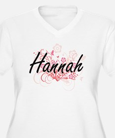 Hannah Artistic Name Design with Plus Size T-Shirt
