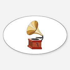 Vintage Phonograph Decal