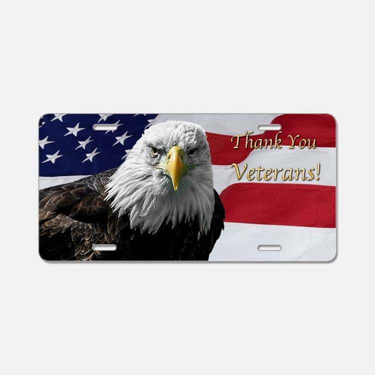 Cute Usa with bald eagle Aluminum License Plate