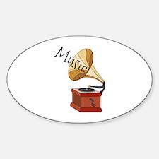 Music Phonograph Decal