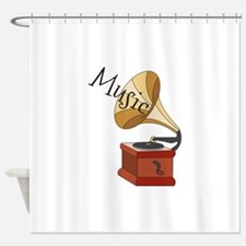 Music Phonograph Shower Curtain