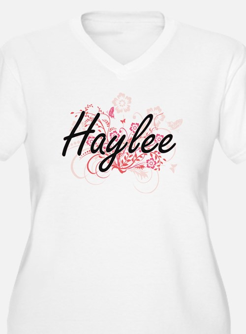 Haylee Artistic Name Design with Plus Size T-Shirt
